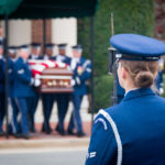A US Army Casket Team Coming Out Of The Old Post Chapel | Arlington Media, Inc.