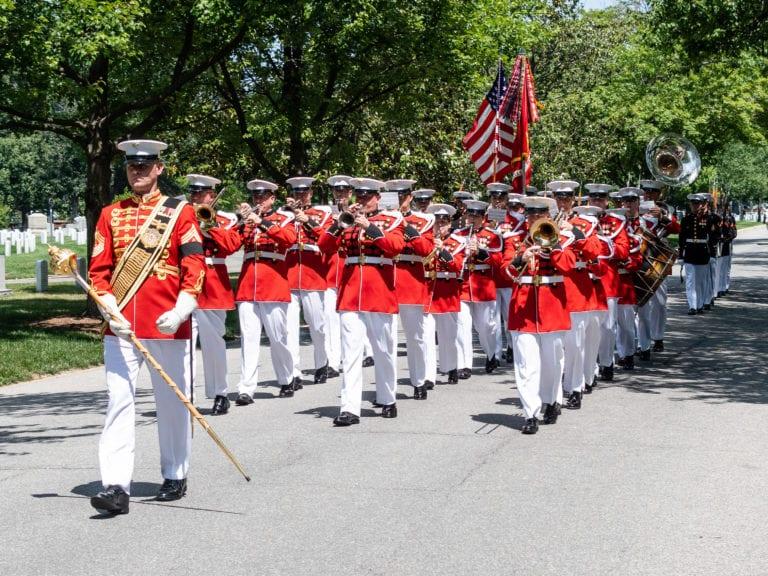 US Marine Band on McPherson Drive