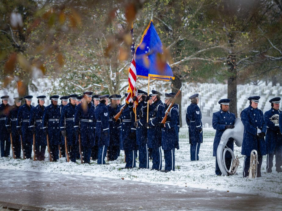 US Air Force in Section 60 arlington cemetery funeral picture | Arlington media, inc.