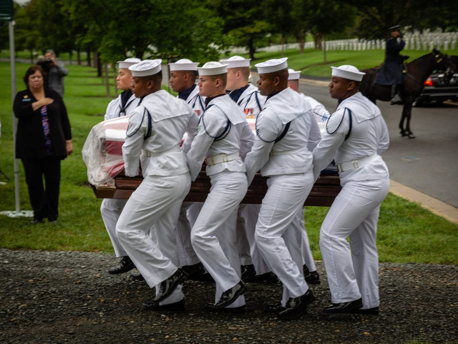 US Navy Casket Team in Section 12A Arlington National Cemetery | Arlington media, inc.