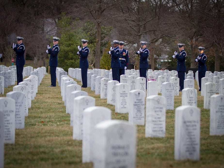 US Coast Guard Firing Party in Section 54 Arlington National Cemetery | Arlington media, inc.