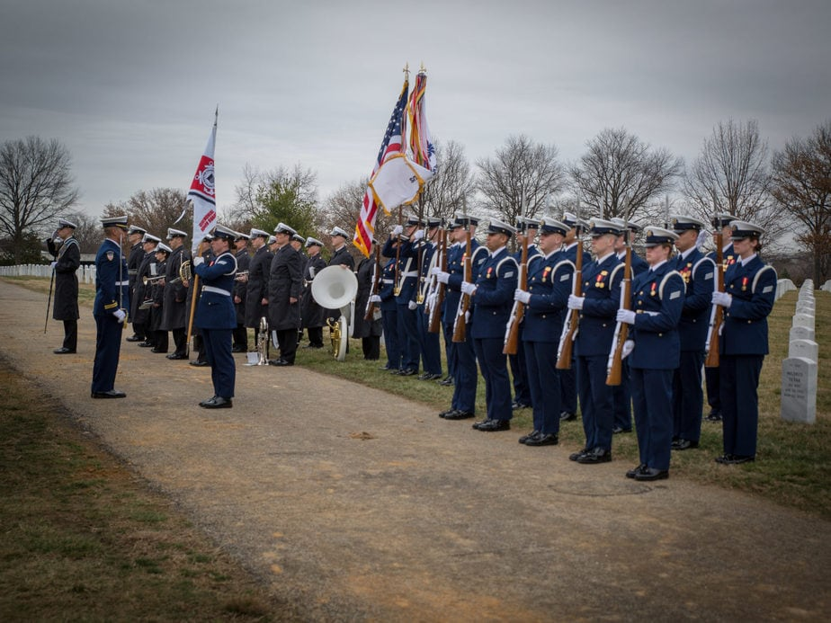US Coast Guard in Arlington National Cemetery Section 54 | Arlington media, inc.