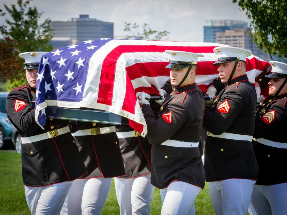 US Marine Casket Team in Section 57 Arlington National Cemetery | Arlington Media, Inc.