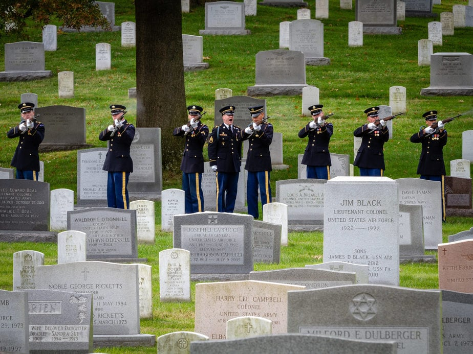 US Army Firing Part in Section 12 in Arlington National cemetery | Arlington media, inc.