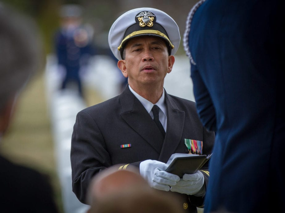 US Navy Chaplain | Arlington national cemetery pictures | Arlington Media, inc.