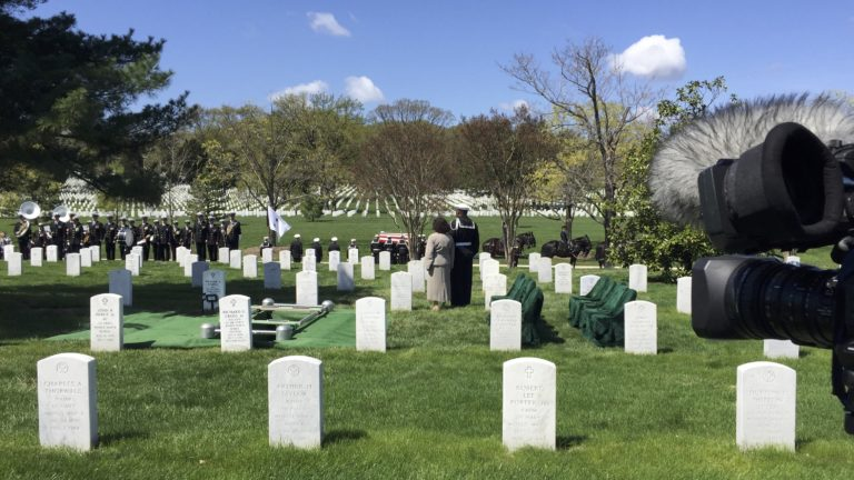 Covering a service in Arlington National Cemetery Section 60 with the US Navy | Arlington media, inc.