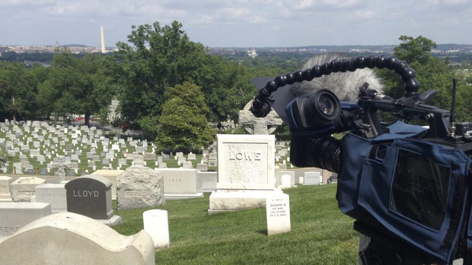Waiting for an Arlington Flyover in Arlington National Cemetery Section 45 | Arlington media, inc.
