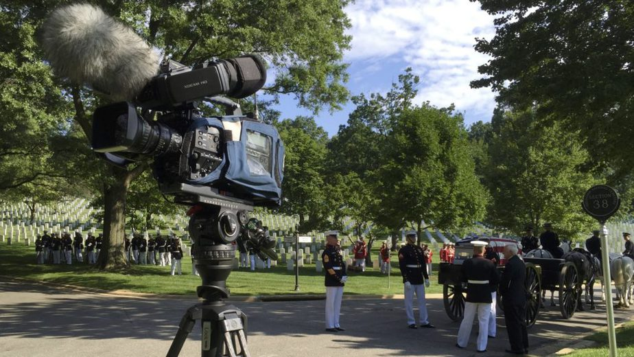 Waiting for a service to start | Arlington media full honor service | Arlington media, inc.