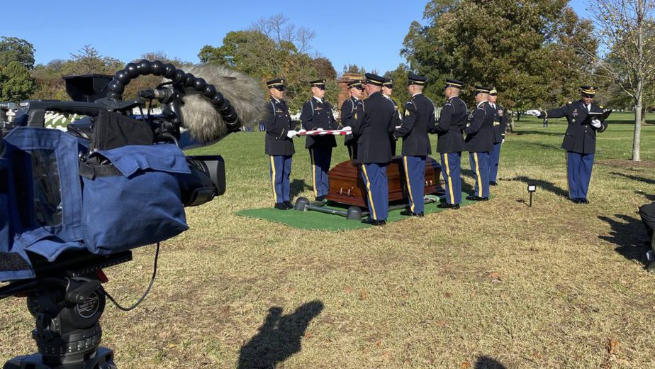 Covering a service in Section 12A with the US Army | Arlington Funeral Videography | Arlington Media, Inc.
