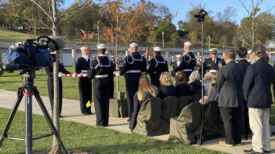 Covering a service in Section 81 with the US Navy | Arlington Funeral Videography | Arlington Media, Inc.