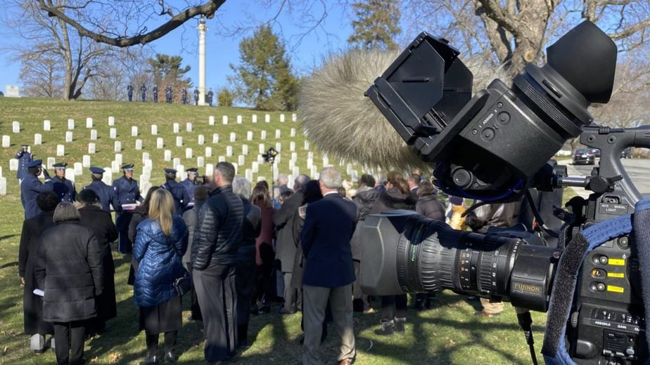 Covering a service in Section 46 with the US Air Force | Arlington National Cemetery Video | Arlington Media, Inc.