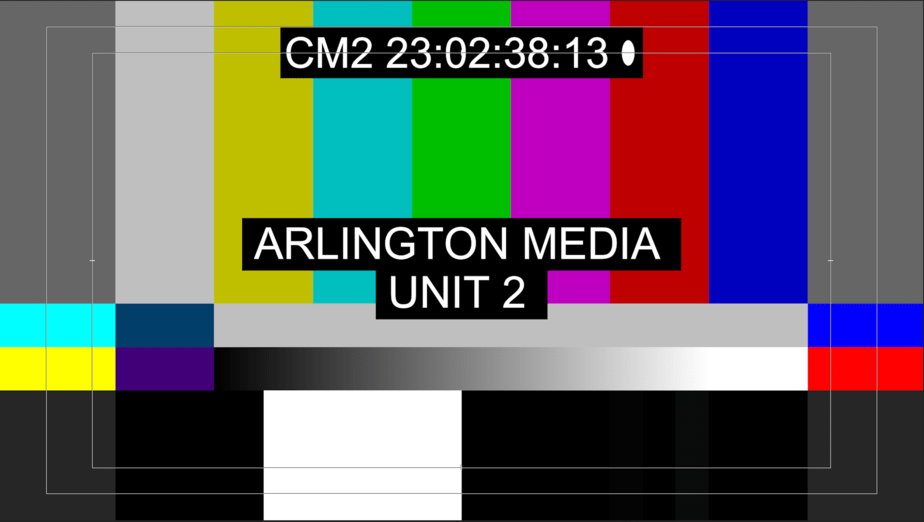 The link will start to show color bars