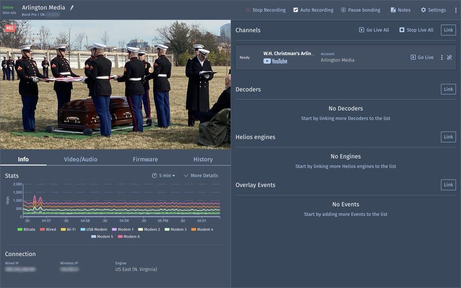 Arlington Media National Cemetery Web Stream   Arlington Media, Inc.